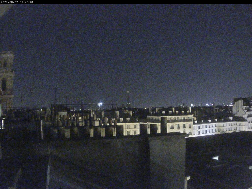Image en direct sur la webcam
